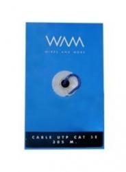 WAM Bobina de Cable Cat5e UTP, 305 Metros, Azul