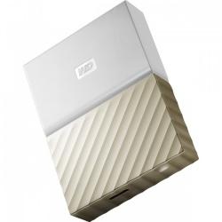 "Disco Duro Externo Western Digital My Passport Ultra 2.5"", 4TB, USB 3.0, Oro/Blanco"
