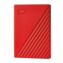 Disco Duro Externo Western Digital WD My Passport, 4TB, USB 3.2, Rojo