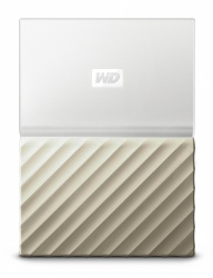 Disco Duro Externo Western Digital WD My Passport Ultra 2.5'', 1TB, USB 3.0, Oro/Blanco