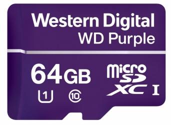 Memoria Flash Western Digital WD Purple, 64GB microSDXC, Clase 10