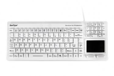 Teclado WetKeys KBSTRC106T-W, Alámbrico, USB, Blanco (Inglés)