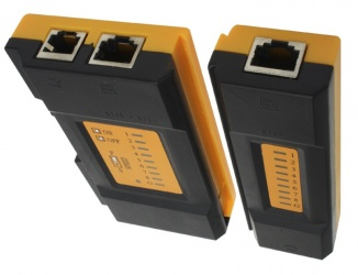 X-Case Probador de Cable RJ-45/RJ-11, Negro/Amarillo