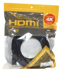 X-Case Cable HDMI Macho - HDMI Macho, 3 Metros, Negro