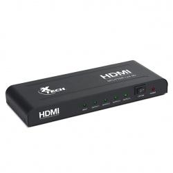 Xtech Adaptador HDMI, 2 Puertos, 1920 x 1080 Pixeles, Negro