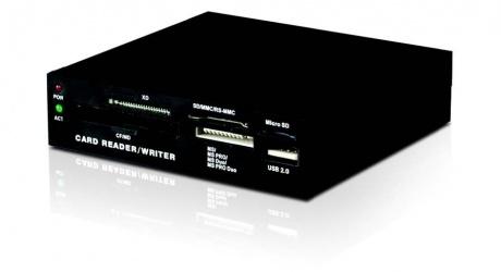 Xtech Lector de Memoria XTA-170, 3.5'', USB 2.0, 480 Mbit/s, Negro