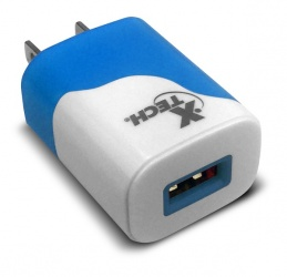 Xtech Cargador de Pared XTG-213, 1x USB 2.0, Azul/Blanco - Precio por Pieza (Se Vende de 10 Piezas en Adelante)
