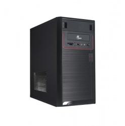 Gabinete Xtech XTQ-100, Micro-Tower, Micro-ATX, USB 2.0, con Fuente de 600W, Negro/Rojo