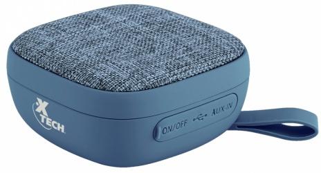 Xtech Bocina Portátil XTS-600, Bluetooth, Inalámbrico, 3W RMS, USB, Azul