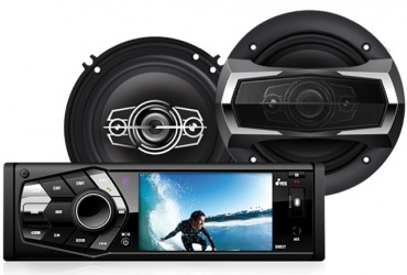 Yes Kit de Autoestéreo PKDVD37, Pantalla LCD 3.6'', 2 Bocinas 6.5'', Bluetooth, AUX/USB/SD
