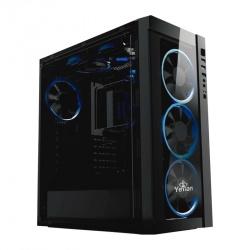 Gabinete Yeyian Blade 2100 con Ventana LED Azul, Midi-Tower, ATX/Micro-ATX, USB 2.0/3.1, sin Fuente, Negro