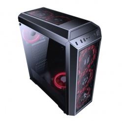 Gabinete Yeyian Blade 2101 con Ventana LED Rojo, Midi-Tower, ATX/Micro-ATX, USB 2.0/3.1, sin Fuente, Negro