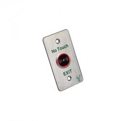 Yli Electronic Botón de Salida ISK-841B(LED), Alámbrico, Plata