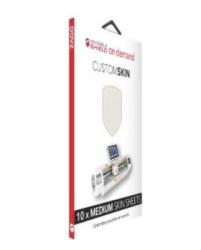 Zagg Protector de Pantalla HDDMDBLNK10 Mediano, Transparente, Resistente a Rayones/Polvo/Golpes, 10 Piezas