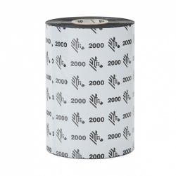 Cinta Zebra Wax 2000, 3.27'' x 83mm, 450 Metros, 1 Pieza