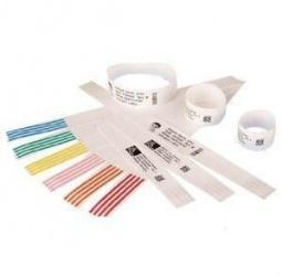 Zebra Z-Band Direct, Brazaletes Térmicos Directos Adhesivos Blancos para HC100, 0.75'' x 11'', 6 x 200 Piezas