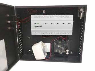 ZKTeco Panel Controlador de Acceso para 1 Puerta INBIO-160PRO, 20.000 Huellas, 60.000 Tarjetas, 100.000 Eventos - incluye Gabinete y Fuente