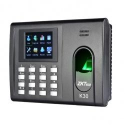 ZKTeco Control de Acceso y Asistencia Biométrico K30, 1000 Usuarios, USB 2.0, Negro - no incluye Fuente de Poder