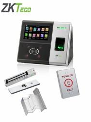 ZKTeco Control de Acceso y Asistencia Biométrico SFACE900, 3000 Usuarios, USB, RS-485 ― Incluye Chapa Magnetica, Soporte ZL y Botón Liberador