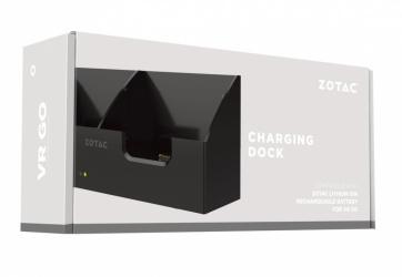 Zotac Cargador de Batería para VR GO, para 2 Baterías, Li-Ion