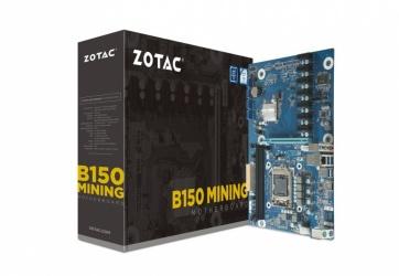 Tarjeta Madre Zotac ATX B150 Mining, S-1151, Intel B150, HDMI, 32GB DDR4 para Intel