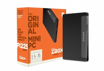 Mini PC Zotac ZBOX PI225, Intel Celeron N3350 1.10GHz, 4GB, 32GB, Windows 10 Home 64-bit