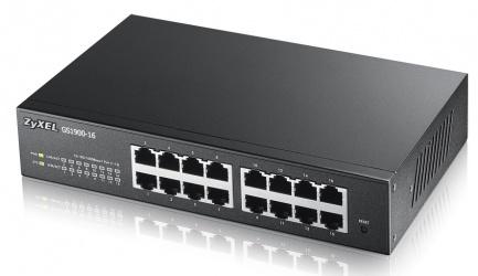 Switch ZyXEL Gigabit Ethernet GS1900-16, 16 Puertos 10/100/1000 - Gestionado