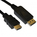 4XEM Cable DisplayPort Macho - HDMI Macho, 1.8 Metros, Negro