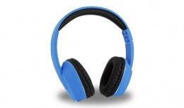 Acteck Audífonos con Micrófono AR-100, Alámbrico, 2 Metros, 3.5mm, Azul