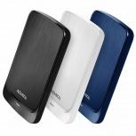 Disco Duro Externo Adata HV320, 1TB, USB 3.1, Azul - para Mac/PC