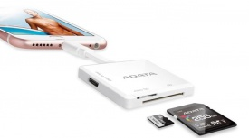 Adata Adaptador MicroSD - Lightning Macho, Blanco