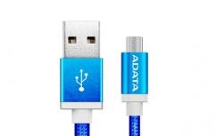 Adata Cable USB 2.0 A - Micro USB 2.0 B para Android/Windows, 1 Metro, Azul