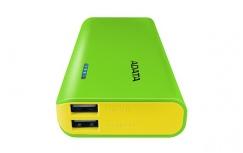 Cargador Portátil Adata PowerBank PT100, 10.000mAh, Verde/Amarillo