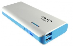 Cargador Portátil Adata PowerBank PT100, 10.000mAh, Blanco/Azul