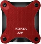 SSD Externo Adata SD600Q, 480GB, USB, Rojo