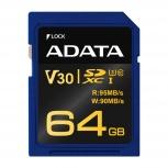 Memoria Flash Adata Premier Pro V30G, 64GB SD UHS-I Clase 10