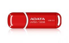 Memoria USB Adata DashDrive UV150, 32GB, USB 3.0, Rojo