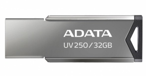 Memoria USB Adata UV250, 32GB, USB 2.0, Plata