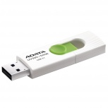 Memoria USB Adata UV320, 64GB, USB 3.0, Blanco/Verde