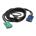 APC Cable USB A Macho - HD-15 Macho, 3.6 Metros, Negro