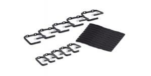 APC Kit de Anillos Organizadores de Cable, Negro, 10 Piezas