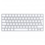 Apple Magic Keyboard, Bluetooth, Inalámbrico, Plata/Blanco (Inglés)