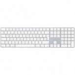 Teclado Apple Magic, Inalámbrico, Bluetooth, Blanco (Español)