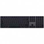 Apple Teclado Magic MRMH2E/A, Alámbrico, USB + Bluetooth, Negro/Gris (Español)