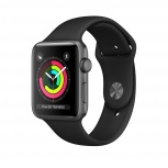 Apple Watch Series 3 OLED, watchOS 5, Bluetooth 4.2, 1.14cm, Negro