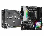 Tarjeta Madre ASRock Micro ATX B450M Steel Legend, S-AM4, AMD B450, HDMI, 64GB DDR4 para AMD