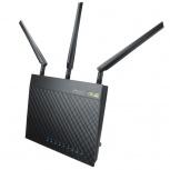 Router ASUS Gigabit Ethernet RT-AC66U con AiMesh, Inalámbrico, 450 Mbit/s, 4x RJ-45, 2.4/5GHz, 3 Antenas
