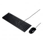Kit de Teclado y Mouse ASUS U2000, Alámbrico, USB, Negro (Español)