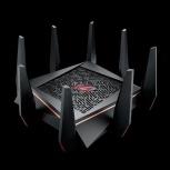 Router ASUS Gigabit Ethernet ROG Rapture GT-AC5300 con AiMesh, Inalámbrico, 1900 Mbit/s, 8x RJ-45, 2.4/5GHz ― ¡Optimizado para Gaming!