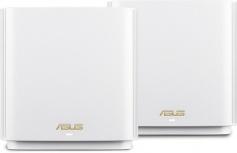 Router ASUS con Sistema de Red Wi-Fi en Malla ZenWiFi AX (XT8), 6600 Mbit/s, Tribanda 2.4/5/5GHz, 6 Antenas Internas, Blanco - 2 Piezas